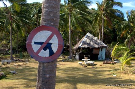 No Guns Sign, Koh Ma, Thailand