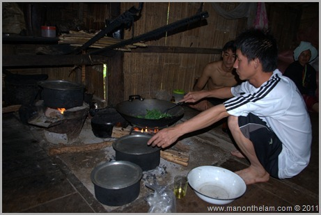Preparing a Meal,  Hill Tribe, Northern Thailand