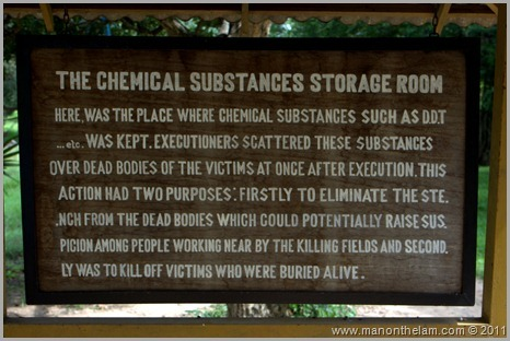 Chemical Substances Sign, Choeung Ek, Cambodia