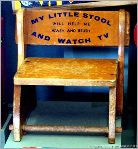 Antique child's television stool