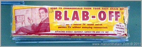Blab-Off 1950's TV remote control, , San Francisco airport museum