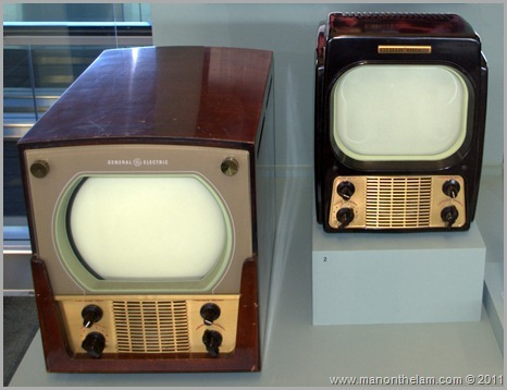 Old General Electric televisions