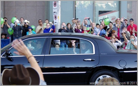 Prince William and Kate Middleton in limousine at Calgary Stampede parade in Canada Best of Travel 2011 Photo