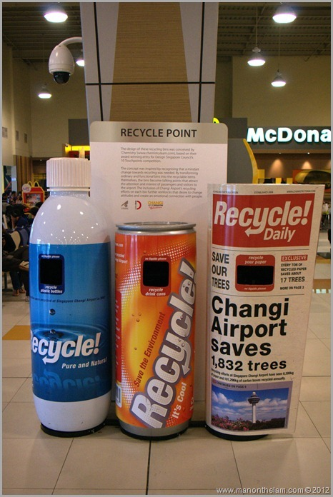 Singapore Changi airport budget terminal recycle bins (2)