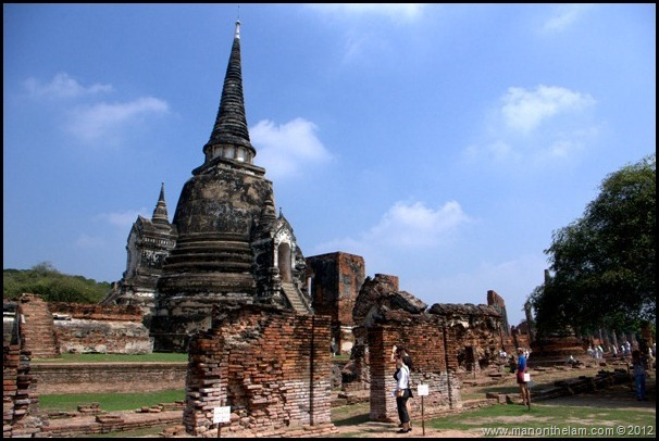 Flood damage at Wat Phra Sri Sanpet Ayutthaya, Thailand