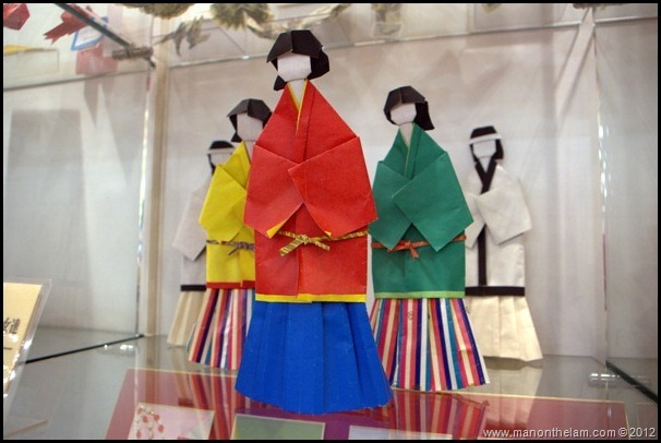 Japanese origami paper folding