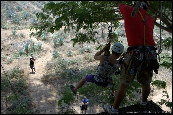 Rapelling after the final zipline, Huana Coa Canopy Adventure, Mazatlan, Mexico, #GoMazatlanNow