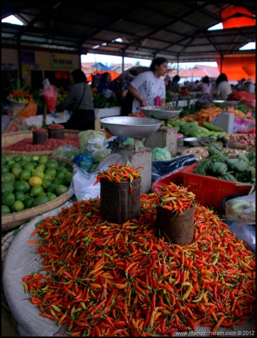 Chilies at Tomohon Traditional Market, Tomohon, North Sulawesi, Indonesia 3