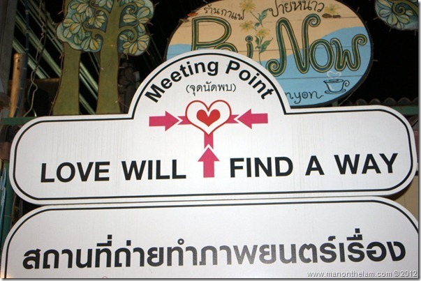 Love Will Find a Way sign