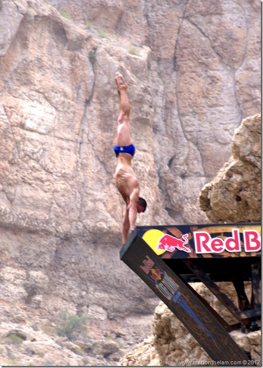 Red Bull Cliff Diving World Series 2012, Wadi Shab, Oman 090