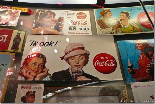 Vintage foreign Coke signs -- World of Coca-Cola, Atlanta, Georgia