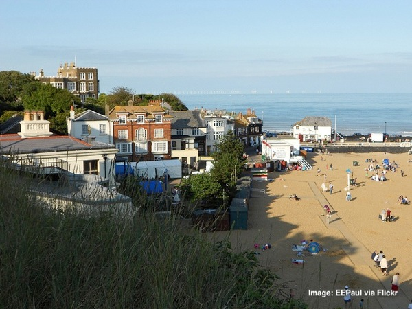 Viking Bay Broadstairs, best sandy beaches near london