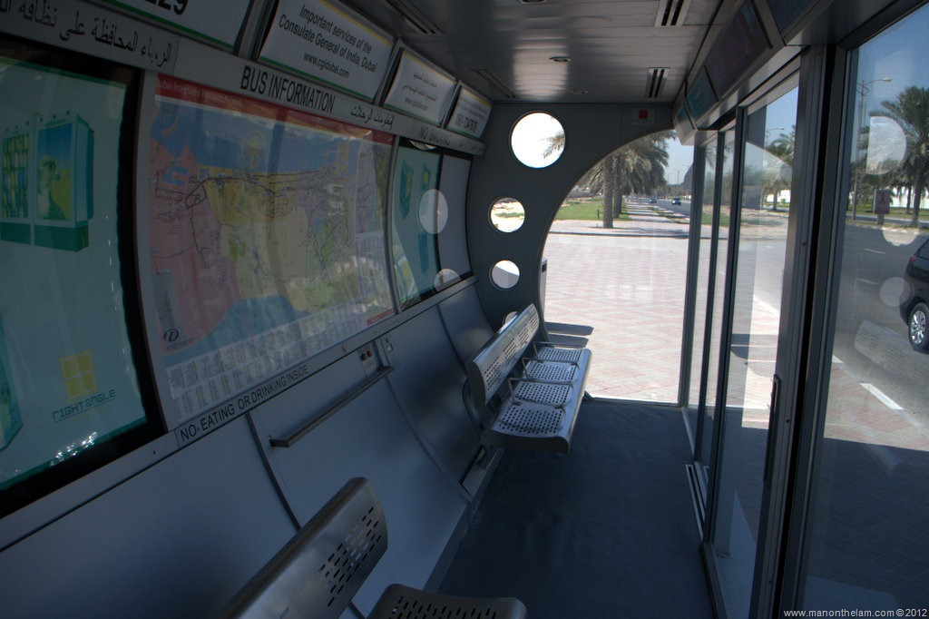 Dubai Land Of Air Conditioned Bus Stops Man On The Lam Travel Blog