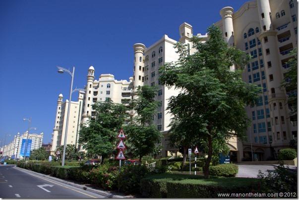 Residential area, The Palms, Dubai, UAE