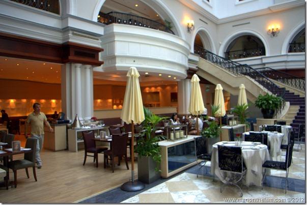 breakfast at lobby restaurant -- -- Mövenpick Hotel Bur Dubai, Dubai, UAE