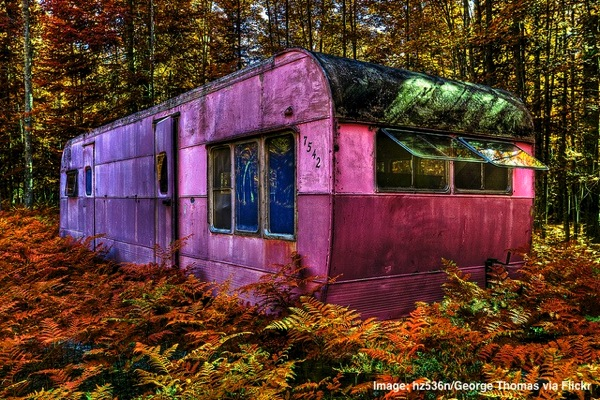 Pink woods caravan