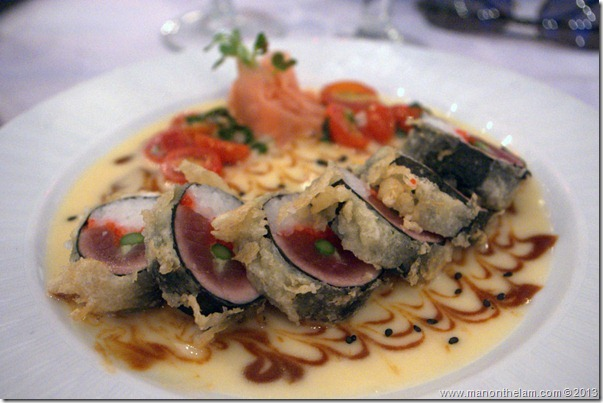 Ahi Tiger Eye Sushi, Nick's Fishmarket, Fairmont Kealani Maui, Wailea, Hawaii