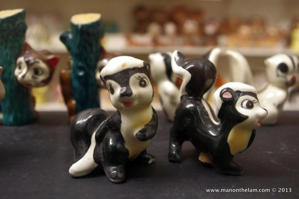 Skunks  rare and unusual Salt and Pepper Shakers Guadalest Spain