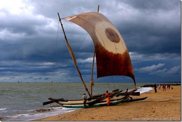 Square sail fishing boat, Jetwing Hotels, Negombo, Sri Lanka