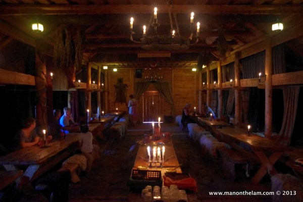 Interior of Viking Hall, Rosala Viking Centre, #VisitFinland