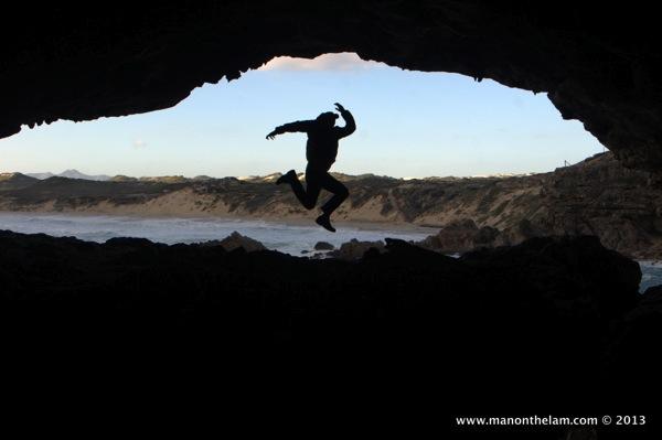 Man On The Lam, from inside Klipgat Cave, De Kelders, South Africa.jpg