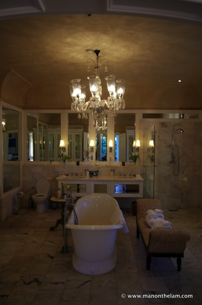 bathroom at the best hotel in the world, La Residence Hotel Villas Franschoek South Africa