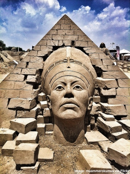 Nefertiti International Antalya Sand Sculpture Festival at SANDLand Quirky Things to do in Antalya Turkey