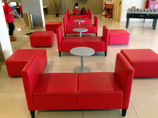 Tune Hotels Penang Malaysia seating area
