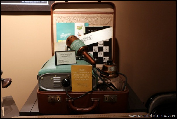 Travelling salesman's vintage vibrator in a suitcase