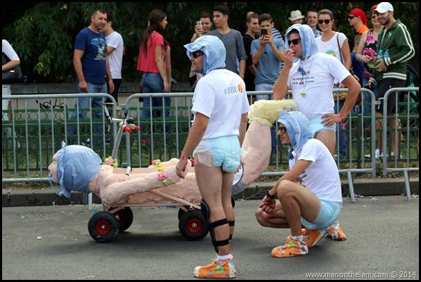 Red Bull Soapbox Race Bucharest Romania -- men in diapers
