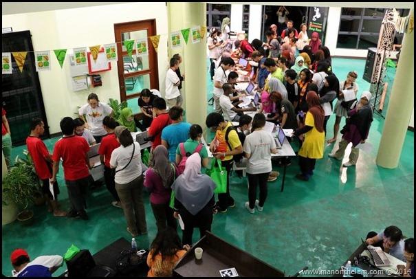 Registration desk -- International Bornean Frog Race, Matang, Sarawak, Borneo, Malaysia