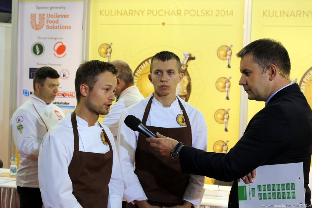 Polish Culinary Cup, Polagra Gastro International Fair, Poznan, Poland -- television interview contestants