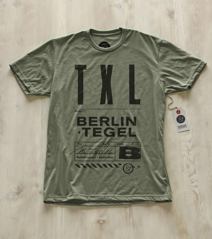 TXK Berlin Tegel Airport Pilot and Captain t shirt Christmas stocking stuffer gift ideas for men who love travel