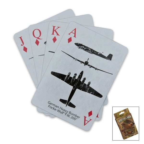 World War II Spotter Playing Cards Stocking stuffers for men Christmas gift ideas