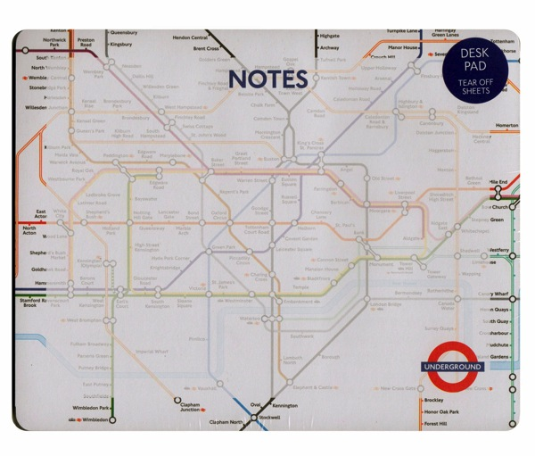 London transport underground tear off mouse mat desk pad Christmas stocking stuffers for men who travel