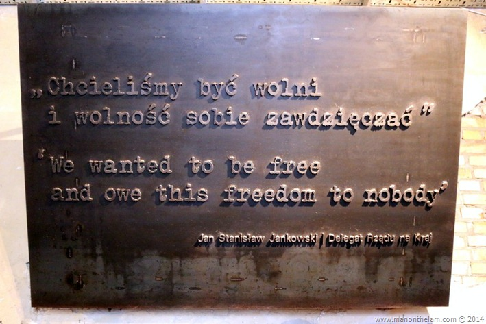 Warsaw Uprising -- We want to be free and owen this freedom to nobody