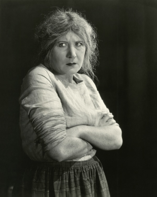 Nervous woman vintage