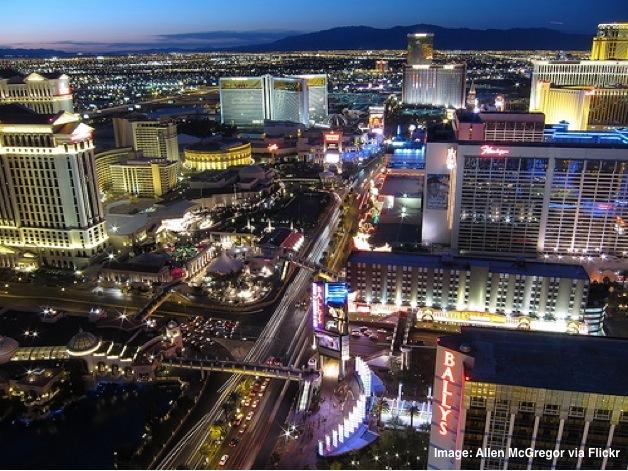 Las Vegas Nevada from the sky