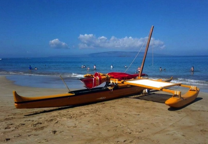 Hawaiian Traditional Sailing Canoe Maui
