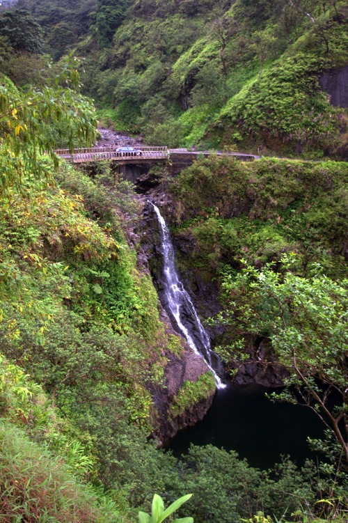 Waterfalls along the Road to Hana Maui Hawaii