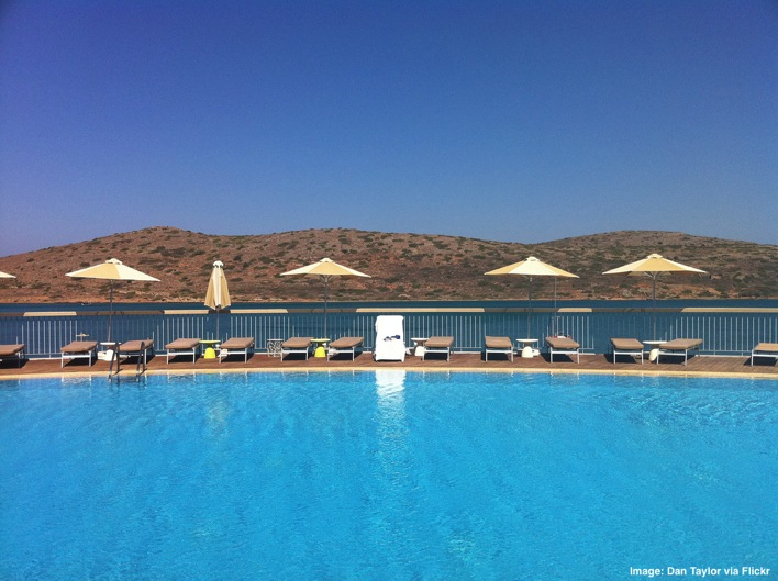Pool at Domes of Elounda Greeece