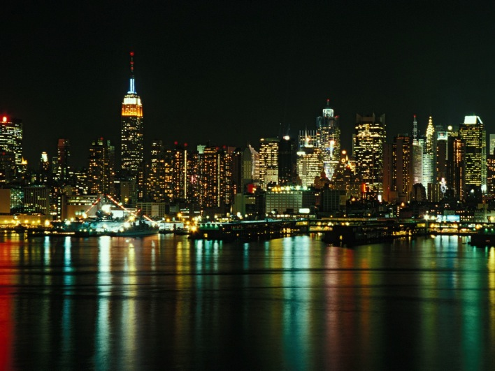 New York City Skyline as Seen From Weehawken New Jersey