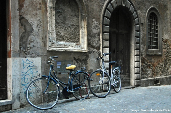 Bikes in Rome things to do in Rome for food lovers