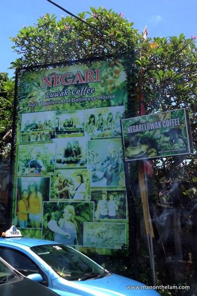 Negari Luwak Coffee stop Bali