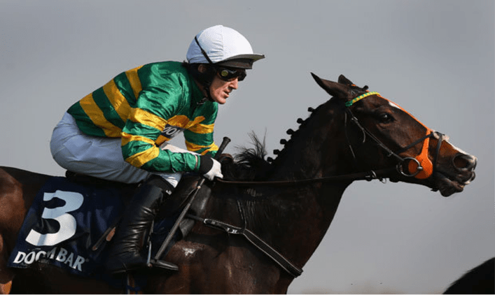 The jockey with the most appearances in The Grand National is Sir Tony  AP McCoy with 20