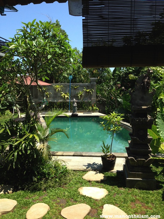 View of Pool at Adi Sentana Guesthouse in Ubud Bali