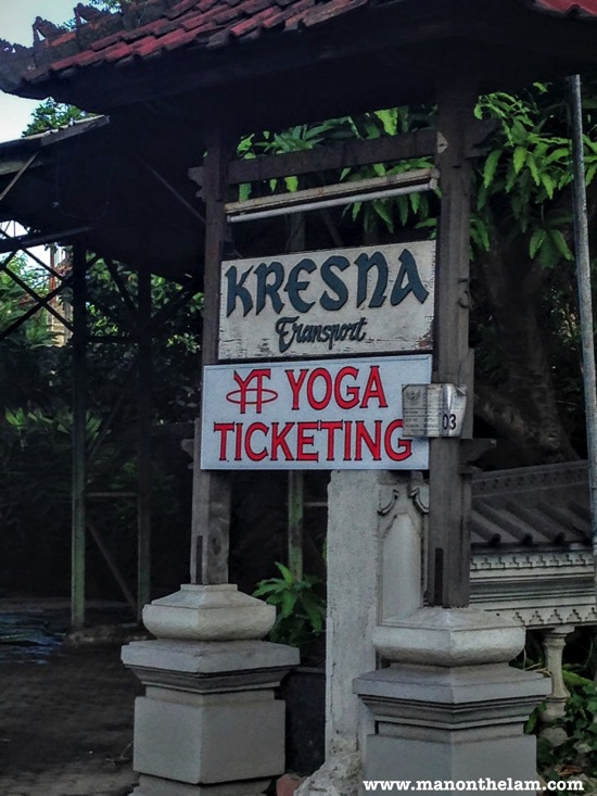 Yoga Ticketing Sign