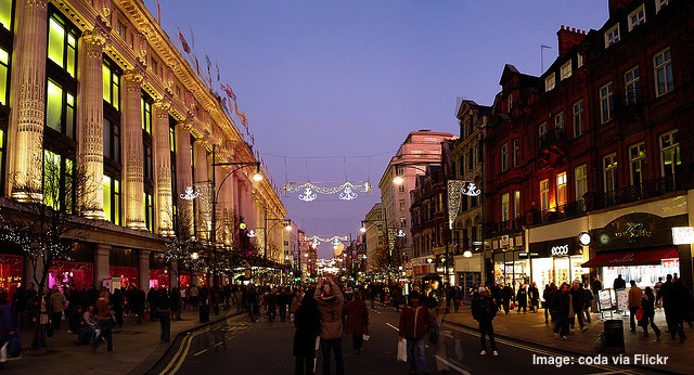 Oxford Street shopping London England