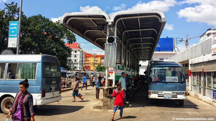 Vientiane Capital Bus Station Talat Sao Morning Market Vientiane Laos
