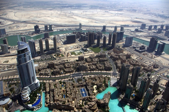 View of Dubai from the Burj Khalifa